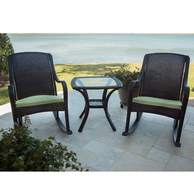 Orleans 3 Piece Rocker Seating Group with Cushion