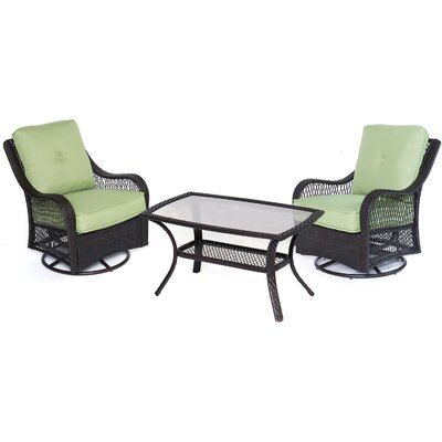 Orleans 7 Piece Deep Seating Group Fabric: Avocado Green