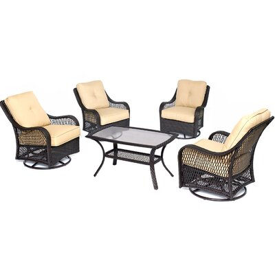 Orleans 5 Piece Deep Seating Group Fabric: Sahara Sand