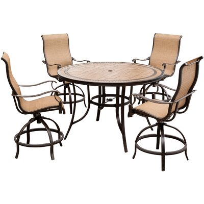 Monaco 5 Piece High-Dining Bar Set