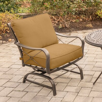 Rhonda 3 Piece Rubbed Bronze Rockers Deep Seating Group with Cushions