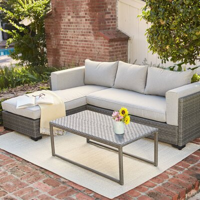 Lenox Hill 3 Piece Sectional Seating Group with Cushion