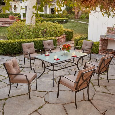 Palm Bay 7 Piece Dining Set with Cushions