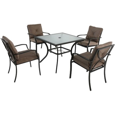 Palm Bay 5 Piece Dining Set with Cushions