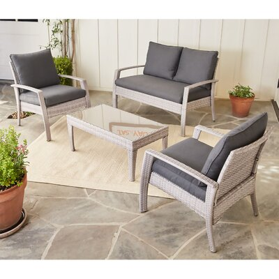 Elemental 4 Piece Deep Seating Group with Cushion
