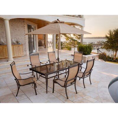 Barryton 7 Piece Dining Set with Umbrella