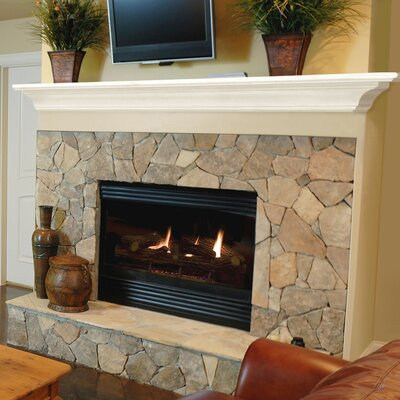 "Pearl Mantels Crestwood Fireplace Mantel Shelf - Finish: White Paint, Shelf Length: 48"" at Sears.com"