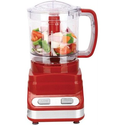 3 Cup Food Processor Color: Red FP-548