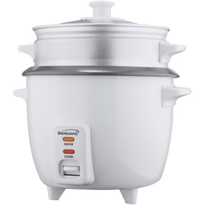 Brentwood Rice Cooker with Steamer Size: 5 Cup TS-600S