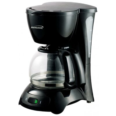 4 Cup Coffee Maker Color: Black TS-214