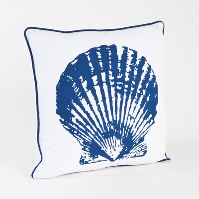 Nautical Clam Shell Design Cotton Throw Pillow
