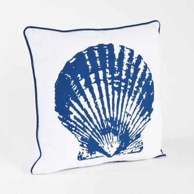 Clam Shell Design Cotton Throw Pillow