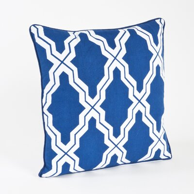 Melilla Moroccan Design Throw Pillow Color: Navy Blue