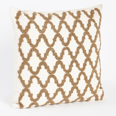 Carmella Beaded Design Throw Pillow Color: Bronze
