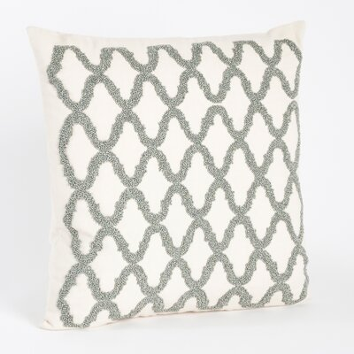 Carmella Beaded Design Throw Pillow Color: Pewter