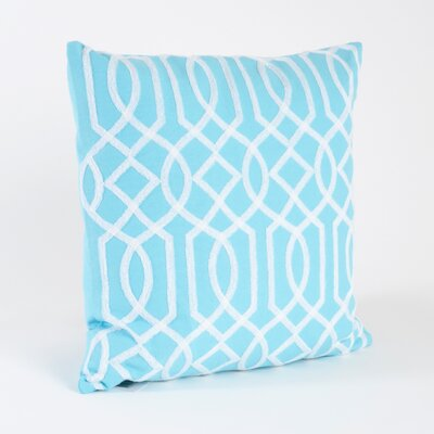 Colette Embroidered Design Cotton Throw Pillow Color: Mint