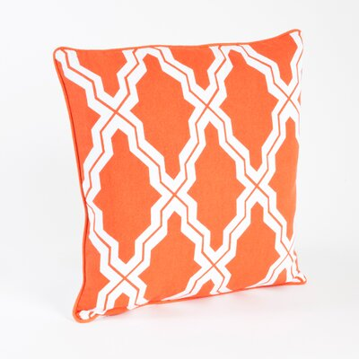Melilla Moroccan Design Throw Pillow Color: Tangerine