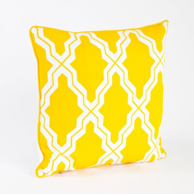 Melilla Moroccan Design Throw Pillow Color: Yellow