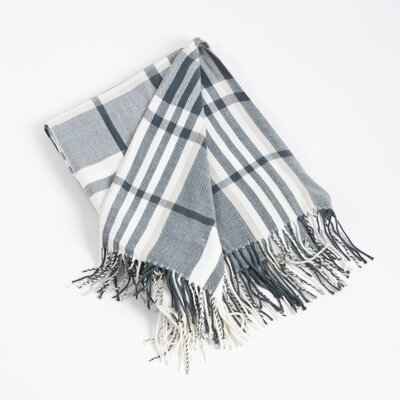 Plaid Design Acrylic Throw Blanket