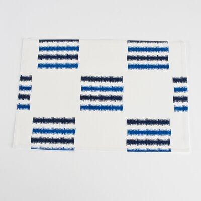 Sonya Line Design Fused Placemat Color: Cobalt Blue 3113.CZ1319B