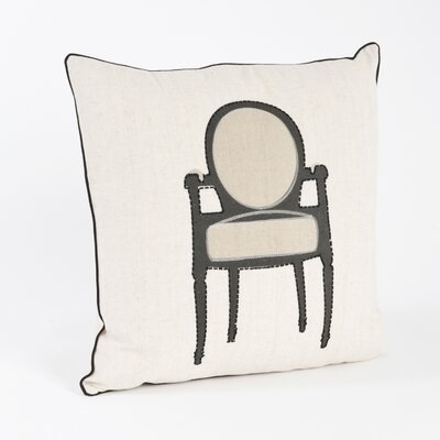 Petite Chaise Chair Design Throw Pillow