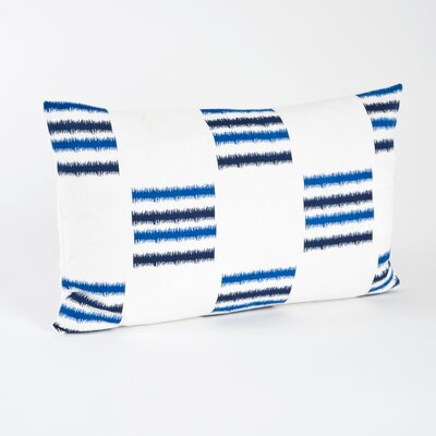 Saro Sonya Line Design Cotton Floor Pillow - Color: Cobalt Blue