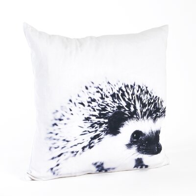 Whimsey Porcupine Design Cotton Throw Pillow