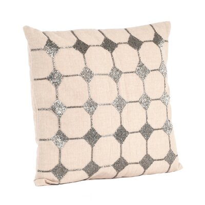 Sparkling Diamond Design Cotton Throw Pillow