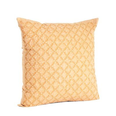 Nirali Appliqu� Sheeting Cotton Throw Pillow Color: Butterscotch