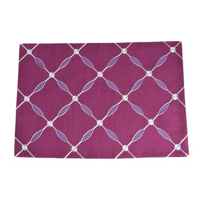 Jean Embroidered Design Placemat Color: Plum
