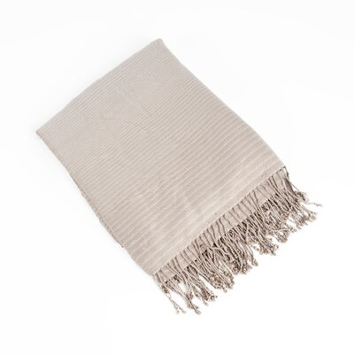 Striped Design Bamboo Rayon Throw Color: Natural