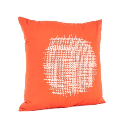 Spice Market Stitched Design Cotton Throw Pillow Color: Tangerine