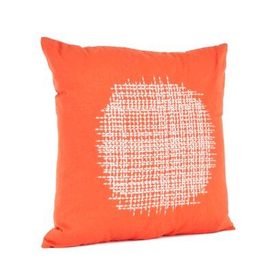 Spice Market Stitched Design Cotton Throw Pillow Color: Tangerine