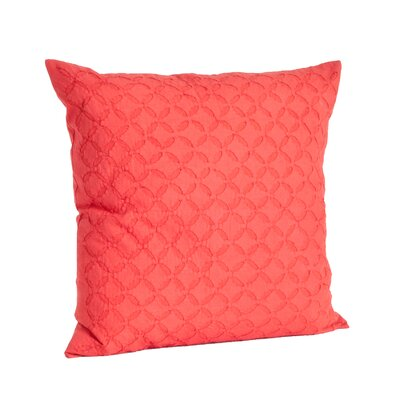 Nirali Appliqu� Sheeting Cotton Throw Pillow Color: Square Rouge