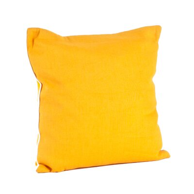 Lanai Throw Pillow Color: Saffron
