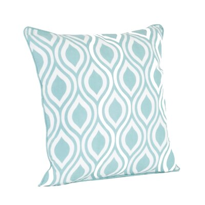 Teardrop Design Printed Throw Pillow Color: Duck Egg Blue