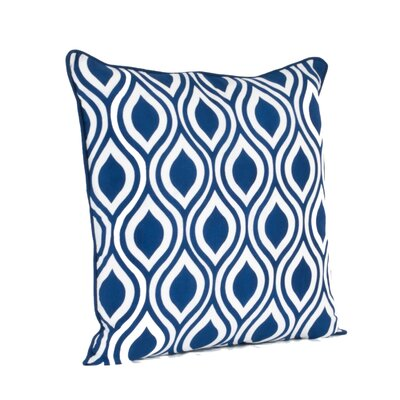 Teardrop Design Printed Throw Pillow Color: Navy Blue