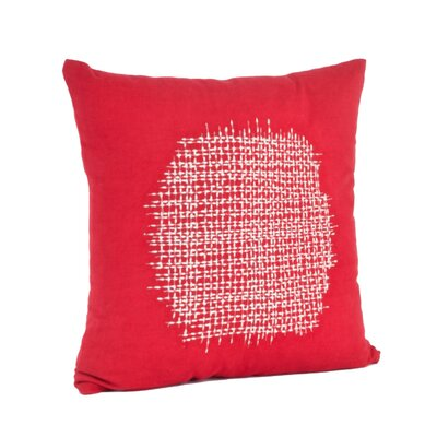 Spice Market Stitched Design Cotton Throw Pillow Color: Rouge