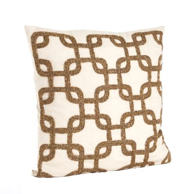 Cordelia Beaded Design Cotton Throw Pillow