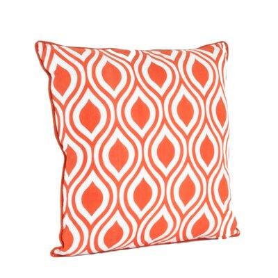 Teardrop Design Printed Throw Pillow Color: Tangerine