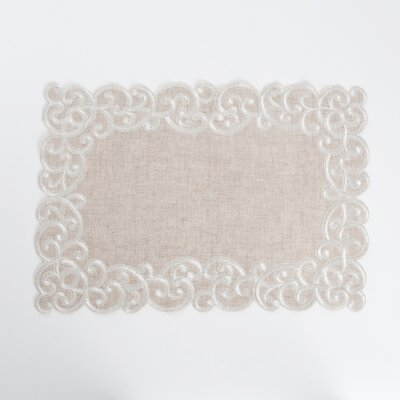 Jean Embroidered Design Placemat LRKM4227 45242522