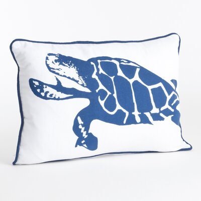 Turtle Design Cotton Lumbar Pillow