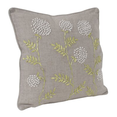 Ribbon Embroidered Throw Pillow