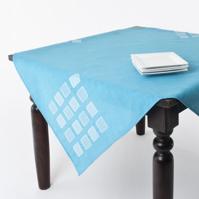 Jean Square Table Topper Color: Turquoise