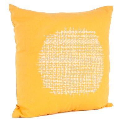 Stitched Cotton Throw Pillow Color: Saffron