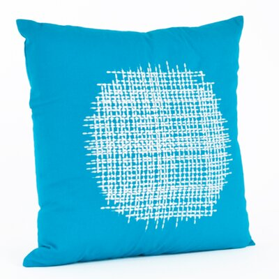 Stitched Cotton Throw Pillow Color: Turquoise