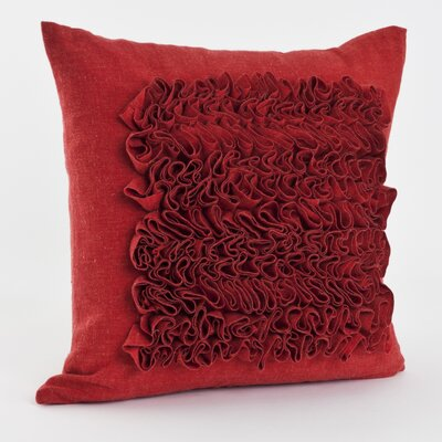 Ruffled Throw Pillow Color: Tangerine