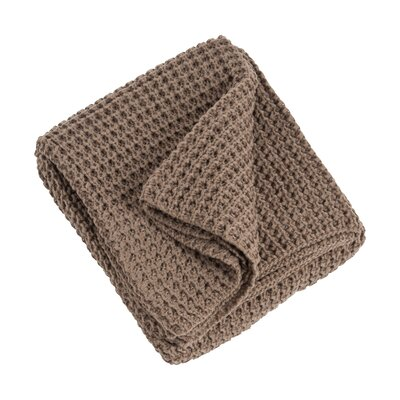 Knitted Design Throw Blanket Color: Shiitake