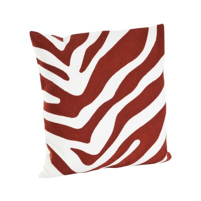 Zebra Cotton Throw Pillow Color: Brick