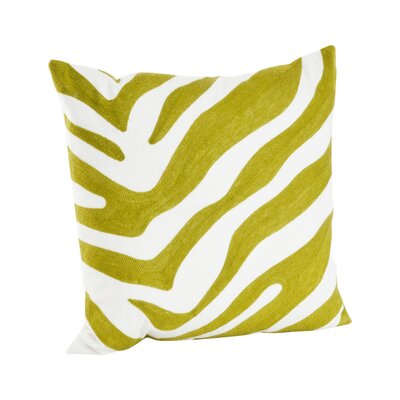 Zebra Cotton Throw Pillow Color: Chartreuse